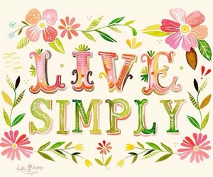 day, flower, and live simply image
