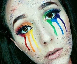 colorful, gay pride, and makeup image