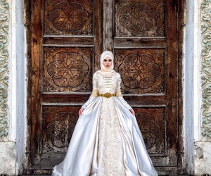 hijab, caucasus, and wedding image