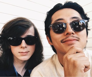 the walking dead, steven yeun, and chandler riggs image