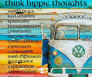 hippie, peace, and music image