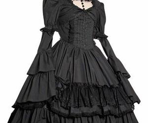 black, gothic, and lolita image