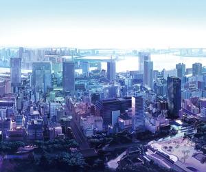 city and anime image