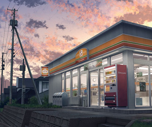 convenience store and anime scenery image