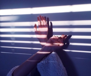 hands, light, and indie image