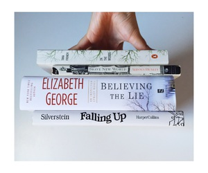 books, perspective, and falling up image