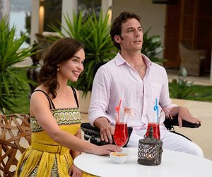 me before you, louisa clark, and sam claflin image