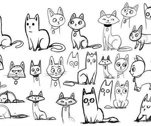 cats and drawing image