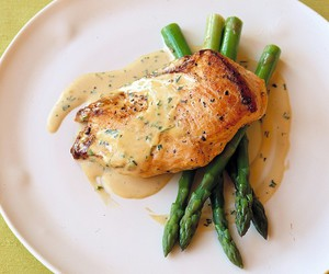 Chicken, white wine, and dijon mustard image