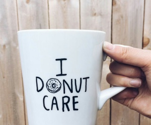 donuts, cup, and care image