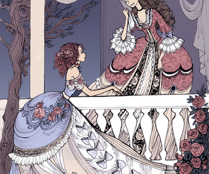 ball gowns, princesses, and romance image