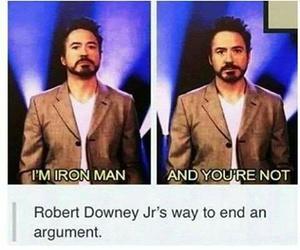 iron man, robert downey jr, and funny image
