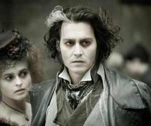 johnny depp, sweeney todd, and movie image