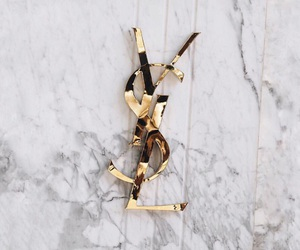 fashion, YSL, and marble image