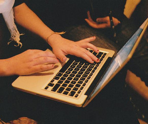laptop and vintage image
