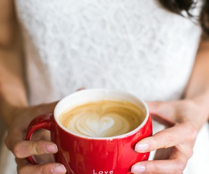 bridal, coffee, and heart image