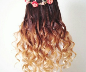 brown hair, style, and hair image