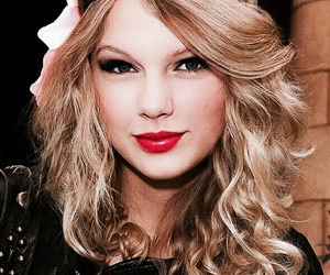 curly, Taylor Swift, and red lip image