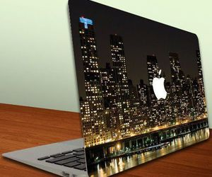 apple, city, and macbook image