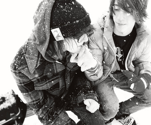 boy, guy, and snow image