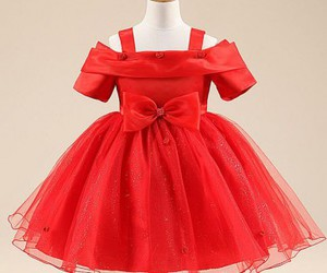 dresses, red dress, and toddler image