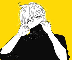 anime and b&w image