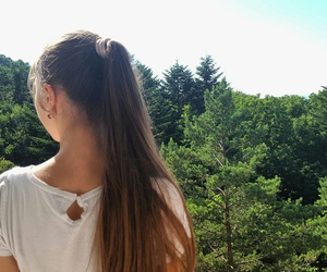 camp, forest, and hair image