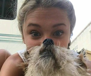 lizzy greene and lizzy and her dog image