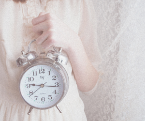 clock, girl, and cute image