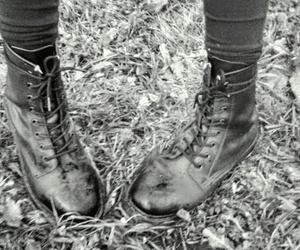 boots, glany, and black foto image