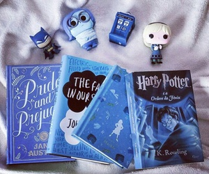 blue, books, and harry potter image