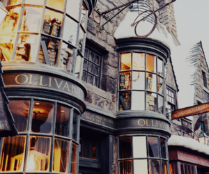 harry potter, magic, and diagon alley image