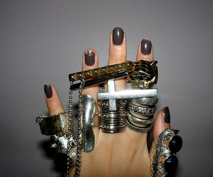 rings, nails, and hand image
