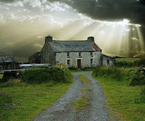 cottage, home, and ireland image