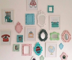 mirrors, decor, and vintage image