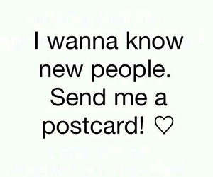 postcard, friends, and people image