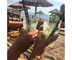 cocktail, sea, and summer image