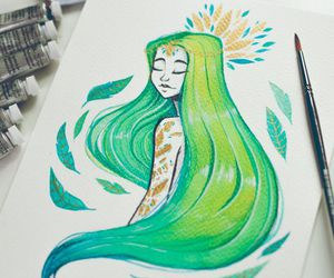 draw, green, and illustration image