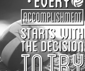 quote, volleyball, and sport image