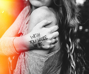 girl, wish, and text image