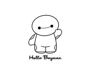 baymax, cute, and disney image