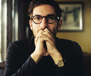 glasses, boy, and man image