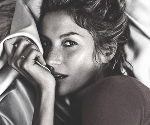 model, beautiful, and black and white image
