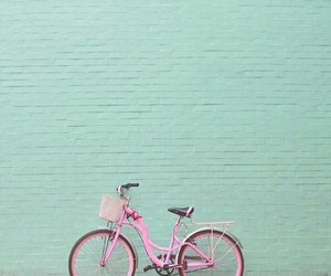 pared, rosa&verde, and bici image