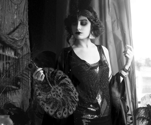 black and white, photography, and flapper image
