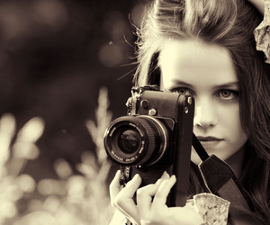 girl, photography, and black and white image