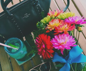 flowers, drink, and summer image