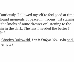 charles bukowski, peace, and quotes image