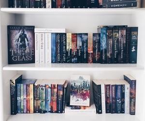 book, bookshelf, and read image