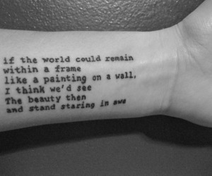 tattoo, beauty, and quote image
